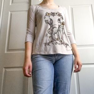 3/$10 About a Girl Gray Quarter Sleeve Top